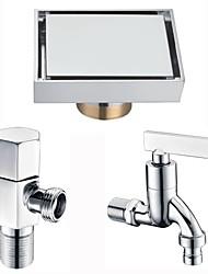 Недорогие -Слив Многофункциональный Modern Латунь 3шт - Ванная комната / Гостиничная ванна Установка на полу