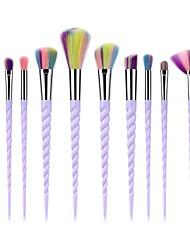 abordables -10pcs Pinceaux à maquillage Professionnel Soin du corps / Pinceau à Blush / Pinceau Fard à Paupières Fibre Nylon Couvrant