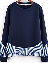 billige -Dame Basale Sweatshirt - Ensfarvet / Stribet