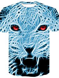 Χαμηλού Κόστους -Ανδρικά T-shirt Κομψό στυλ street / Πανκ & Γκόθικ Συνδυασμός Χρωμάτων / Ζώο Στάμπα