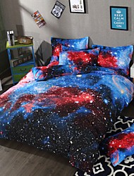 baratos -uma boa noite galáxia conjuntos de cama conjuntos de capa de edredão 3d polyster impresso 3 peça