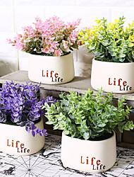 hesapli -Yapay Çiçekler 0 şube Klasik Şık / Modern Vase Masaüstü Çiçeği