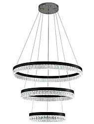 abordables -VALLKIN 3 lumières Circulaire Lampe suspendue Lumière d'ambiance Plaqué Finitions Peintes Métal Cristal, Ajustable 110-120V / 220-240V Blanc Crème / Blanc Neige / Blanc Source lumineuse de LED incluse
