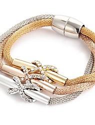 Недорогие -Жен. Ретро Wrap Браслеты - Элегантный стиль Браслеты Розовое золото Назначение Официальные Для вечеринок