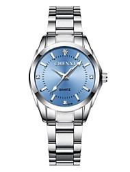baratos -Mulheres Relógio Elegante Japanês Quartzo Prata 30 m Impermeável Noctilucente Relógio Casual Analógico senhoras Casual Fashion - Verde Rosa claro Azul Claro
