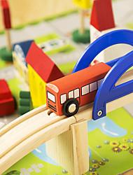 Недорогие -Конструкторы Вид на город Cool утонченный деревянный Все Игрушки Подарок 1 pcs