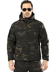 baratos -Jaqueta de Caçador / Jaqueta de Lã Fleece de Caçador Homens A Prova de Vento / Á Prova-de-Chuva camuflagem Jaquetas Softshell Manga Longa para