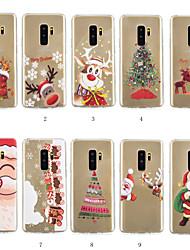 Недорогие -Кейс для Назначение SSamsung Galaxy S9 Plus / S8 Plus С узором Кейс на заднюю панель Рождество Мягкий ТПУ для S9 / S9 Plus / S8 Plus