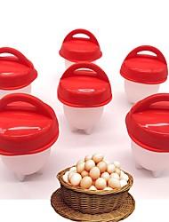 Недорогие -1pc силиконовые яйца браконьерские чашки пароход яйцо плита яйцо вкрутую яйцо без оболочки омлеты формы яиц инструменты