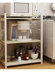 baratos -Organização de cozinha Prateleiras e Suportes Aço Inoxidável Armazenamento 1pç