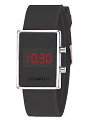 Недорогие -Для пары Наручные часы Цифровой силиконовый Черный / Белый / Синий Календарь Секундомер Новый дизайн Цифровой Мода Цветной - Зеленый Синий Розовый Один год Срок службы батареи / Фосфоресцирующий