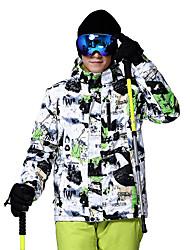 abordables -Wild Snow Homme Veste de Ski Pare-vent, Chaud, Ventilation Ski / Multisport / Sports de neige Polyester doudoune / Anorak en Duvet Tenue de Ski
