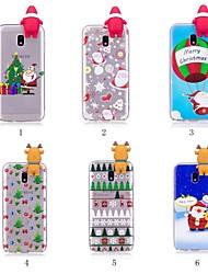 Недорогие -Кейс для Назначение SSamsung Galaxy J7 (2017) / J5 (2017) С узором / Своими руками Кейс на заднюю панель Рождество Мягкий ТПУ для J7 (2017) / J7 (2016) / J5 (2017)