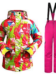 billiga Sport och friluftsliv-Wild Snow Dam Skidjacka och -byxor Vindtät, Varm, Ventilerande Skidåkning / Multisport / Vintersport Polyester Klädesset Skidkläder