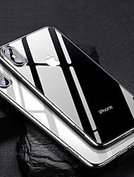 Недорогие -Кейс для Назначение Apple iPhone XR / iPhone XS Max Покрытие / Ультратонкий / Прозрачный Кейс на заднюю панель Однотонный Мягкий ТПУ для iPhone XS / iPhone XR / iPhone XS Max