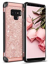 Недорогие -BENTOBEN Кейс для Назначение SSamsung Galaxy Note 9 Защита от удара / Покрытие / Сияние и блеск Кейс на заднюю панель Однотонный / Сияние и блеск Твердый Кожа PU / ТПУ / ПК для Note 9