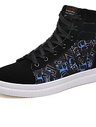 abordables -Homme Chaussures de confort Polyuréthane Hiver Sportif / Décontracté Basket Augmenter la hauteur Couleur Pleine Noir / blanc / Noir / Rouge / Noir / bleu.