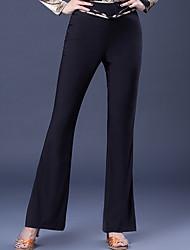 abordables -Danse de Salon Bas Femme Utilisation Soie Glacée Ruché Taille moyenne Pantalon