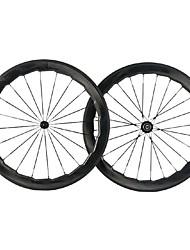 Недорогие -NEASTY 700CC Колесные пары Велоспорт 25 mm Шоссейный велосипед углерод Клинчерная покрышка 20-24 Спицы 60 mm