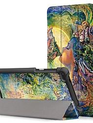 Недорогие -Кейс для Назначение Lenovo Tab 7 Защита от пыли / Флип / Авто Режим сна / Пробуждение Чехол Мультипликация Твердый Кожа PU для Lenovo Tab 7