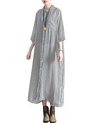 Недорогие -женский плюс размер выходит наружная рубашка с воротником maxi