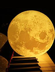 billige -12cm 3d månelampe soverommet bokhylle natt lys kreativt nyttårs julegave