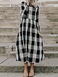Недорогие -женский хлопок линия платье midi