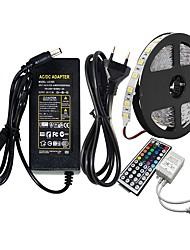 Недорогие -Ziqiao 5 м smd5050 RGB светодиодные ленты 60led / м DC12V 300 светодиодов и 44-клавишный RGB светодиодный контроллер и 12 В 5A 60 Вт адаптер
