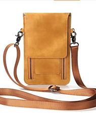 Недорогие -Жен. Мешки PU Мобильный телефон сумка Молнии Сплошной цвет Черный / Пурпурный / Коричневый