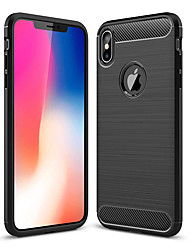 Недорогие -Кейс для Назначение Apple iPhone XR / iPhone XS Max Защита от удара Кейс на заднюю панель Однотонный Мягкий ТПУ для iPhone XS / iPhone XR / iPhone XS Max