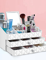 Недорогие -Место хранения организация Косметологический макияж пластик Прямоугольная форма Тройной слой