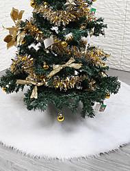 abordables -Noël Vacances / Arbre de Noël Molleton Circulaire Soirée Décoration de Noël