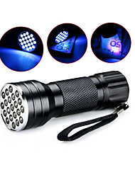 cheap -D12UV-1-0-2 LED Flashlights / Torch Black Light Flashlights / Torch Handheld Flashlights / Torch LED 5mm Lamp 21 Emitters 1 Mode Waterproof Ultraviolet Light Camping / Hiking / Caving Everyday Use