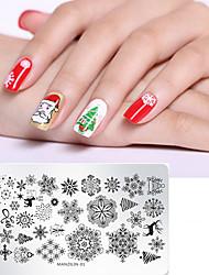 billige -1 pcs Nail DIY Tools Skabelon Tegneserie Serie genanvendeligt Negle kunst Manicure Pedicure Stilfuld Jul