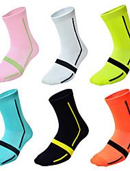 Недорогие -Джерси Компрессионные носки Спортивные носки / спортивные носки Носки для велоспорта Велосипедный спорт / Велоспорт Велоспорт Дышащий Велоспорт Быстровысыхающий 6шт Мода Нейлон Один размер