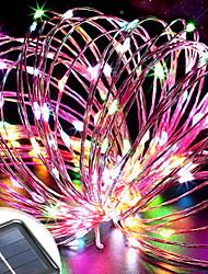 Недорогие -6,8 млн Гирлянды 150 светодиоды Разные цвета Декоративная Солнечная энергия 1 комплект