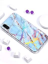 billige -Etui Til Apple iPhone XR / iPhone XS Max IMD / Mønster Bagcover Marmor Blødt TPU for iPhone XS / iPhone XR / iPhone XS Max