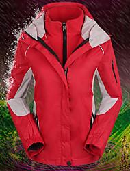 baratos -Mulheres Jaqueta de Esqui A Prova de Vento, Prova-de-Água, Térmico / Quente Esqui / Acampar e Caminhar / Snowboard Flanela Inverno Jaquetas em Velocino / Lã Roupa de Esqui