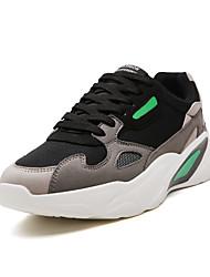 abordables -Homme Chaussures de confort Daim Automne hiver Décontracté Basket Noir / Orange / Vert