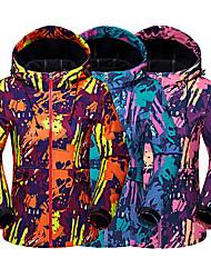 baratos -LEIBINDI Mulheres Jaqueta Softshell de Trilha ao ar livre Outono Inverno Respirável Manter Quente Térmico / Quente Anti-desgaste Roupas Esportivas Roupa Náilon Chinês Jaqueta Blusas Acampar e