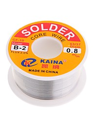 baratos -Alta qualidade 63/37 rosin núcleo solda fio fluxo de 2% de solda de chumbo estanho fio de solda de ferro carretel 0.8mm 100g b-2