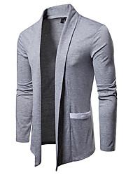 billige -Herre Ensfarvet Basale / Gade Cloak / Capes
