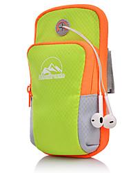 baratos -Unisexo Bolsas Tecido Oxford Telefone Móvel Bag Ziper Listrado Preto / Laranja / Rosa