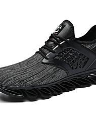 abordables -Homme Chaussures de confort Tricot Automne Sportif / Décontracté Chaussures d'Athlétisme Course à Pied Massage Noir / Noir / Rouge