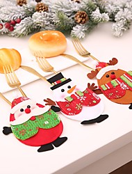 cheap -Tableware Storage Party Accessories Christmas / Party / Evening Christmas / Santa Suits / Elk Nonwoven