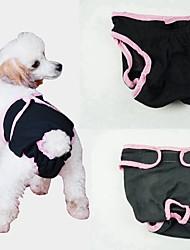 billige -Hunde Sundhedspleje / Bukser / Rengøring Hundetøj Ensfarvet Blå / Lys pink / Sort Bomuld Kostume For kæledyr Dame Unikt design / minimalistisk stil