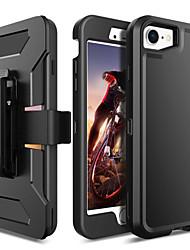Недорогие -BENTOBEN Кейс для Назначение Apple iPhone 8 / iPhone 7 Защита от удара / Сияние и блеск Чехол Однотонный / Сияние и блеск Твердый ТПУ / ПК для iPhone 8 / iPhone 7 / iPhone 6s