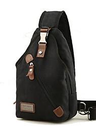 Недорогие -Муж. Мешки холст Слинг сумки на ремне Молнии Черный / Кофейный / Хаки