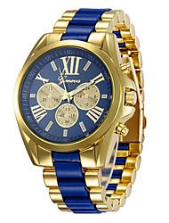 Недорогие -Муж. Спортивные часы Наручные часы Кварцевый Черный / Белый / Желтый 30 m Повседневные часы Крупный циферблат Аналоговый На каждый день Мода - Черный Желтый Синий