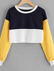 billige -Dame Gade Sweatshirt - Farveblok